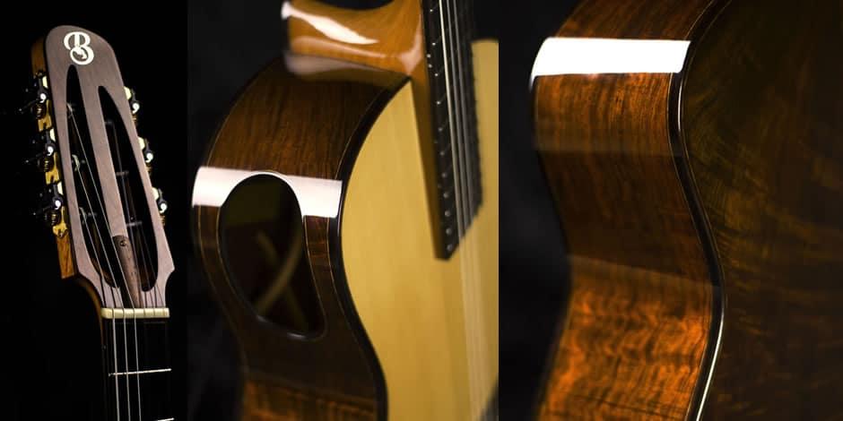 Handmade Fanned Fret Guitar