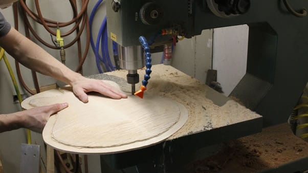 Carving an archtop guitar pin router
