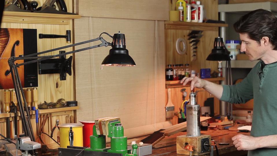 controling heat when bending wood binding