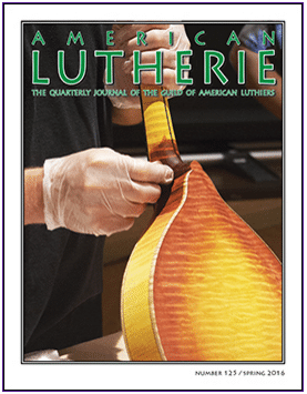 The Guild Of American Lutherie issue