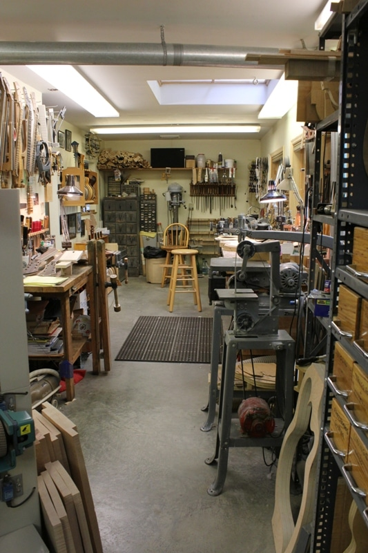 Monteleone Guitars Main Work Area