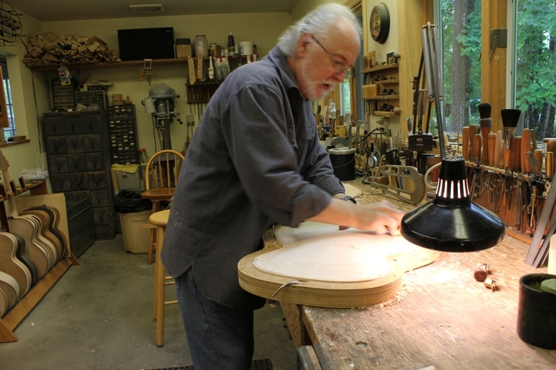 John Monteleoone Craving A Recurve On A Maple Back