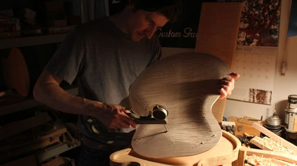 Carving an archtop guitar caliper
