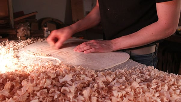 Carving an archtop guitar carving