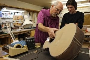 Olson Guitars - Guitar in progress