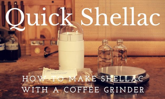 How To Make Shellac With A Coffee Grinder