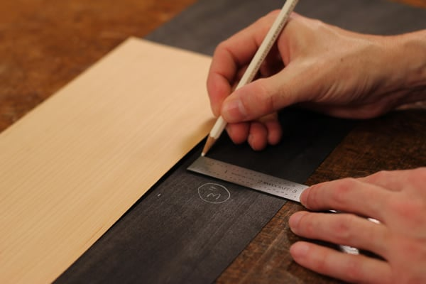 Measuring veneers for purfling