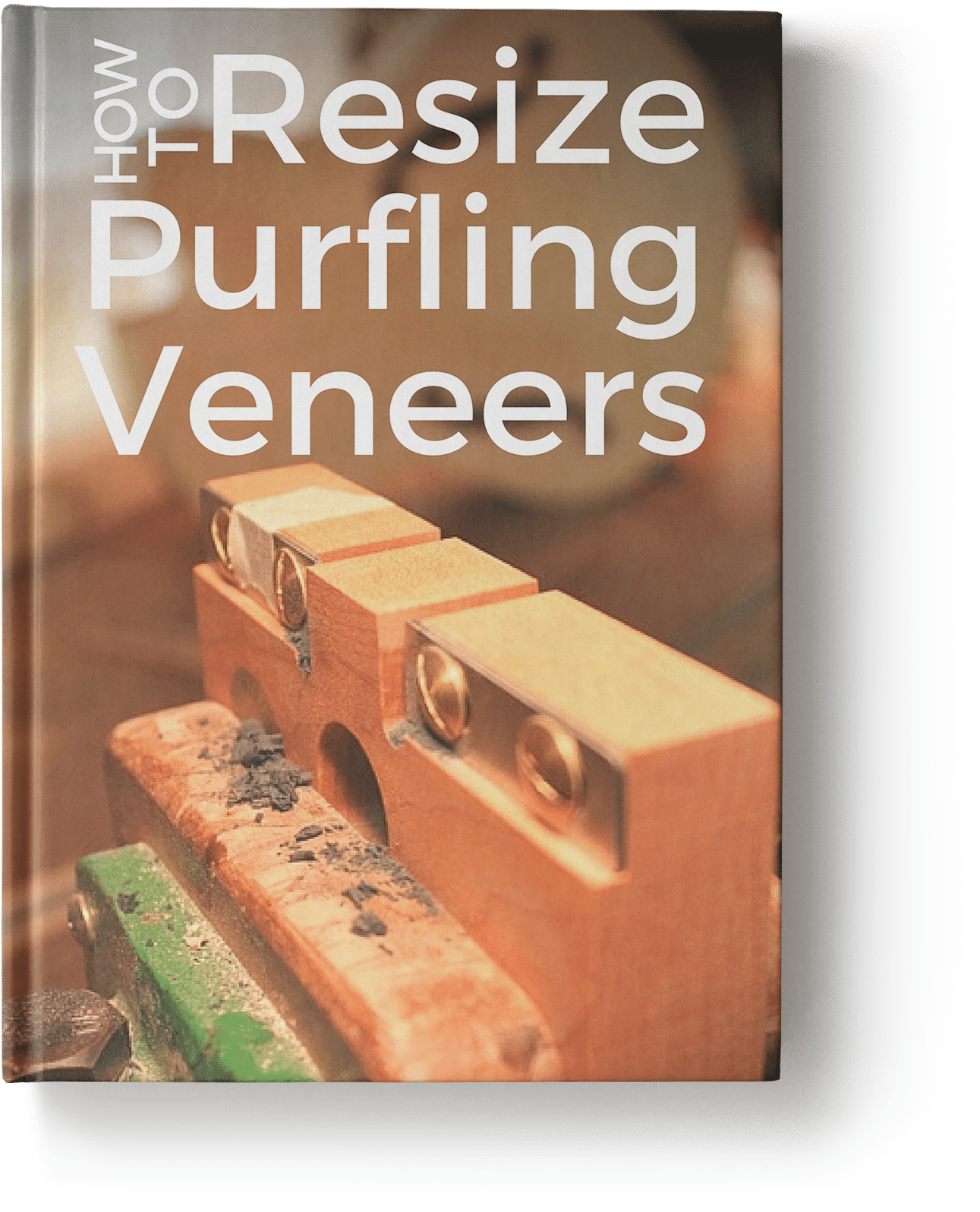 how to resize guitar purfling veneers