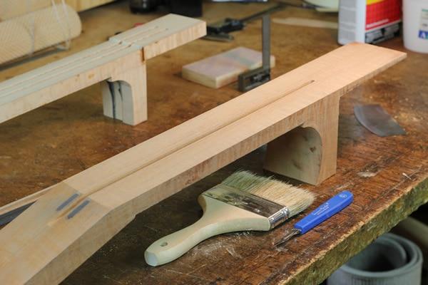 Carbon Fiber Guitar Neck Elevated Fingerboard
