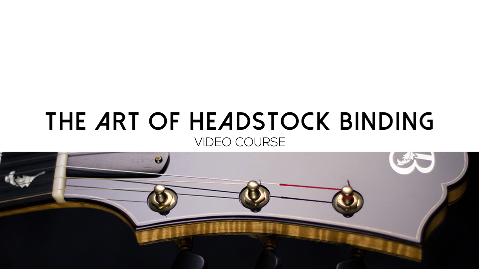 headstock binding course
