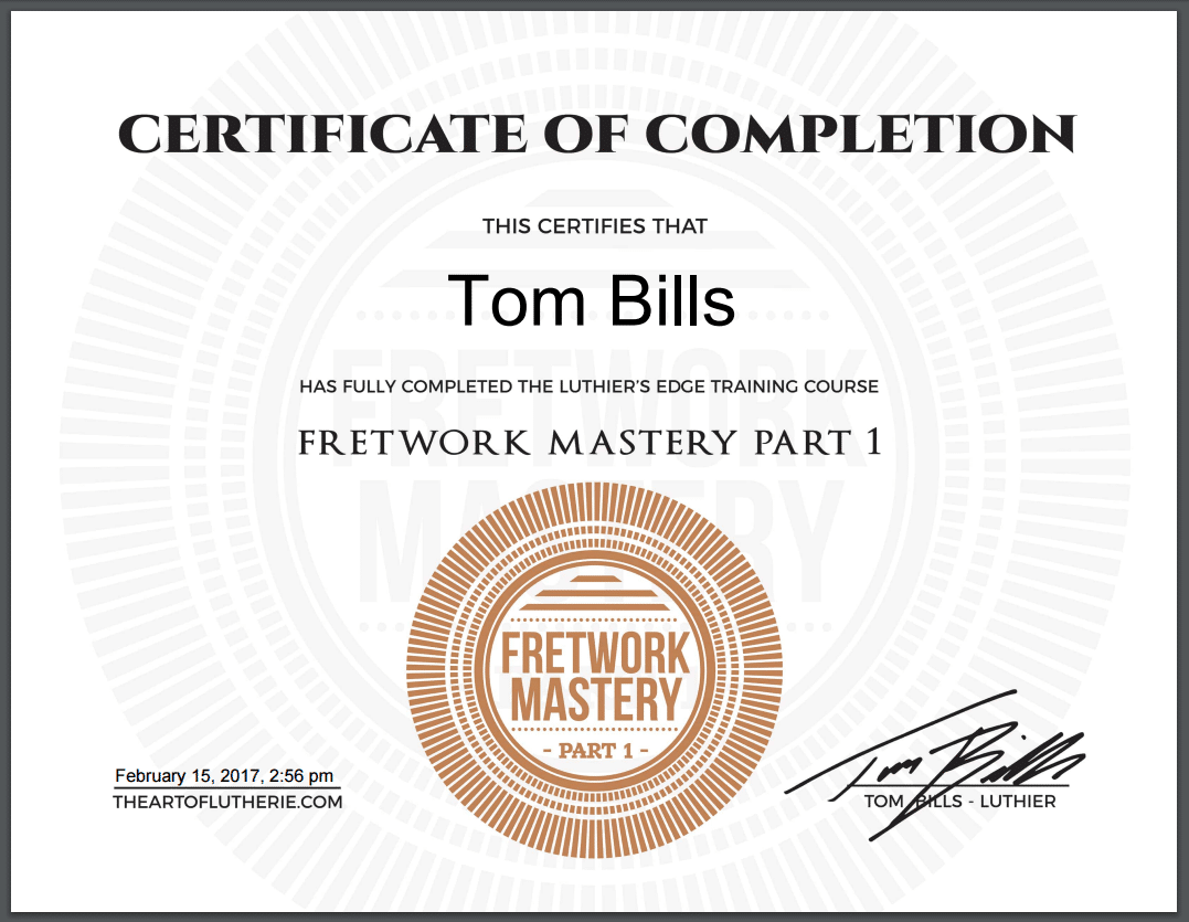2.0 printable certificates