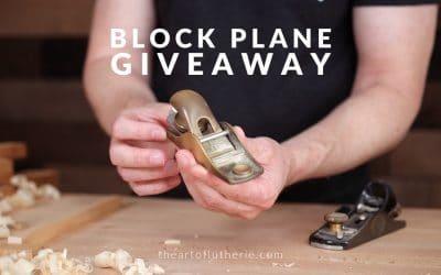 Block Plane Giveaway