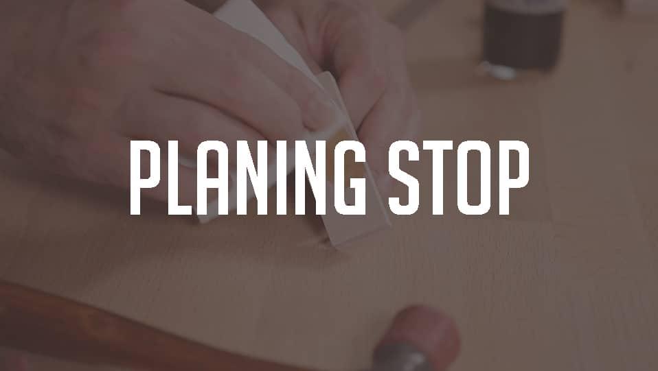 Guitar brace planing stop