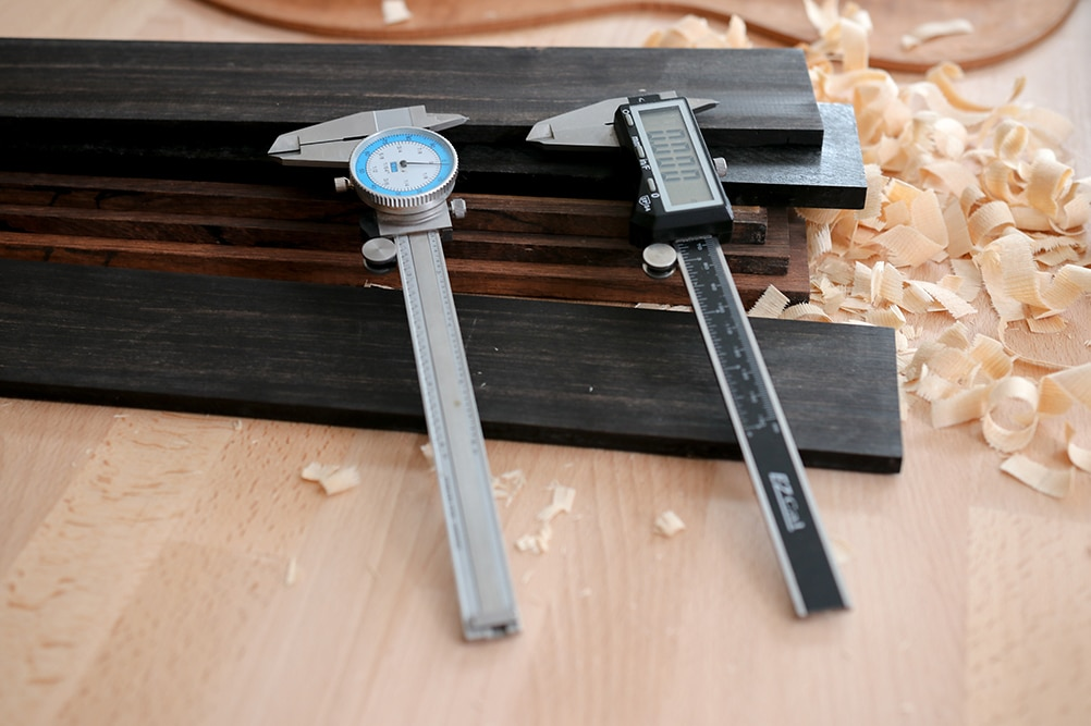 Calipers for woodworking