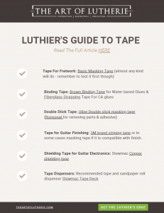 Luthiers Tape 1 Page Summary