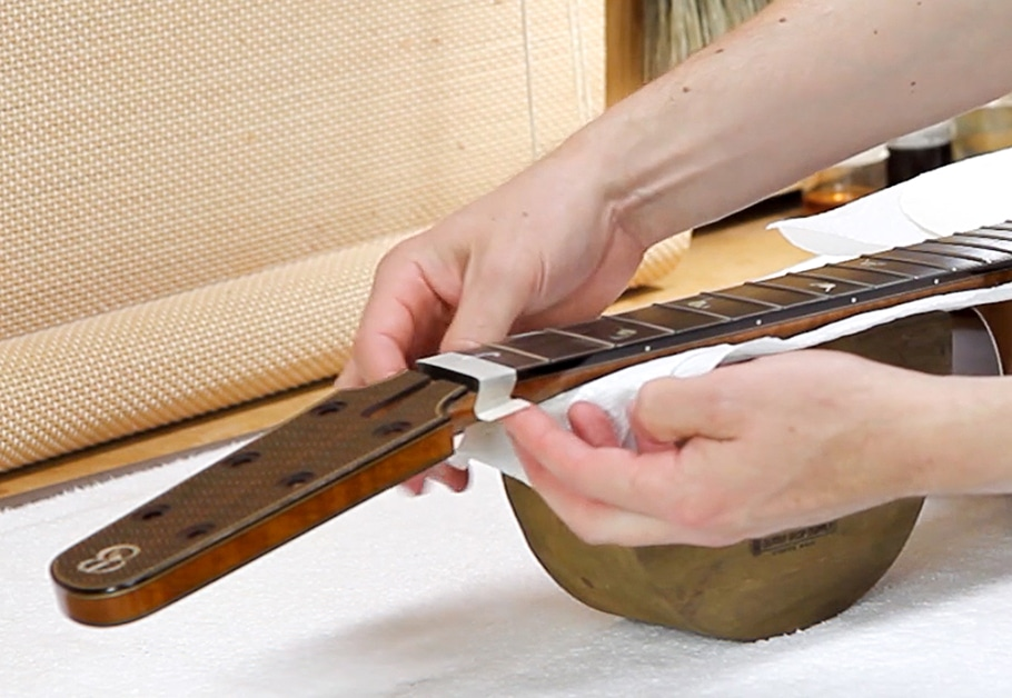 taping off fretboard