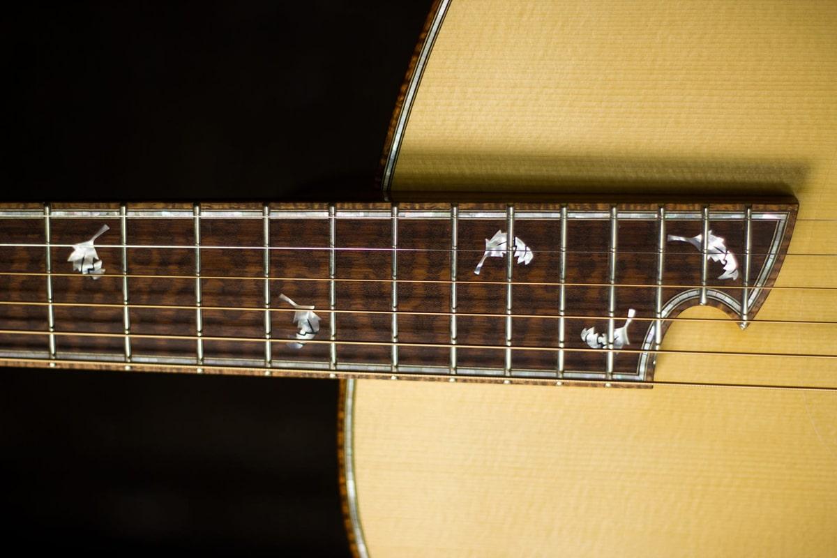 Steel string acoustic guitar frets tom bills guitars