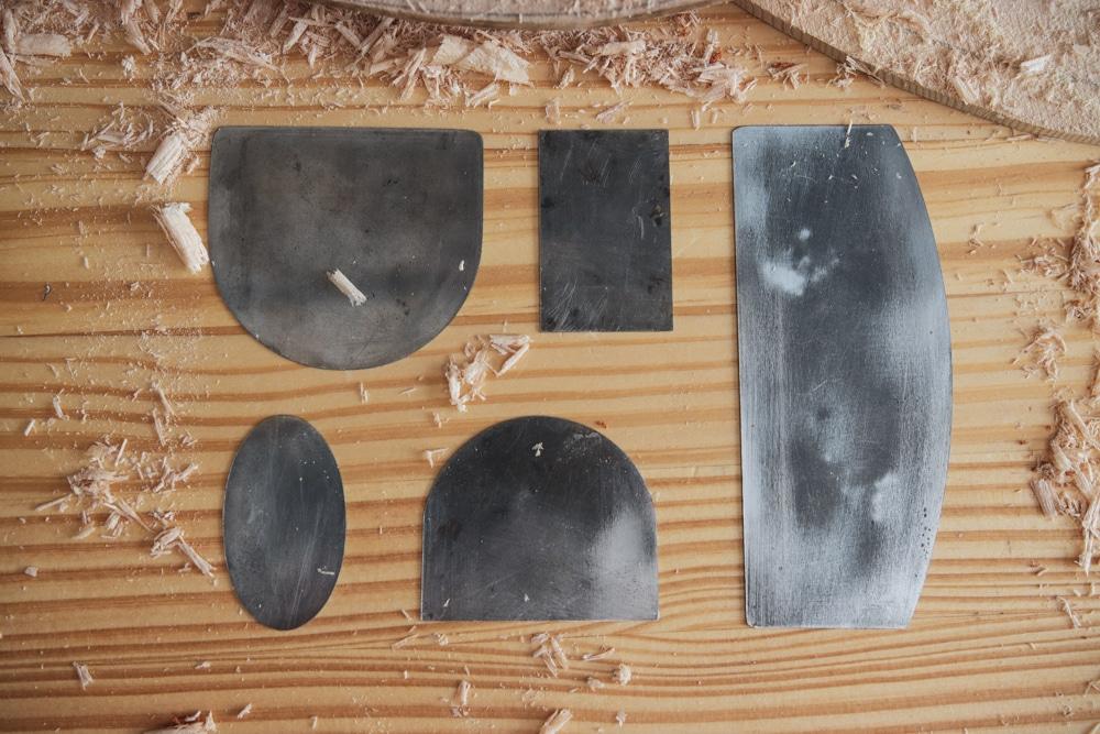 guitar making tool curved scraper set
