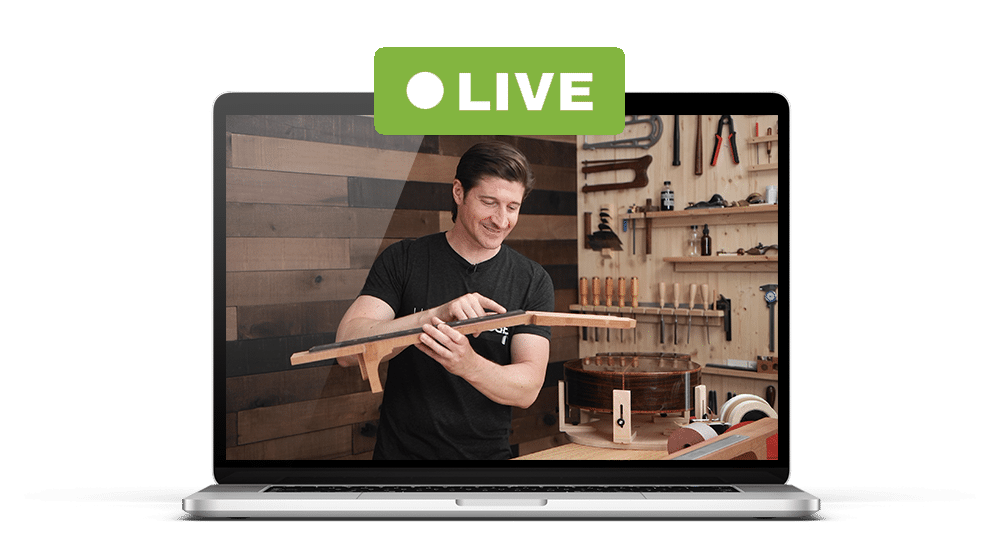 Live stream luthier courses